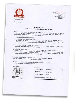 Fair Trades Letter