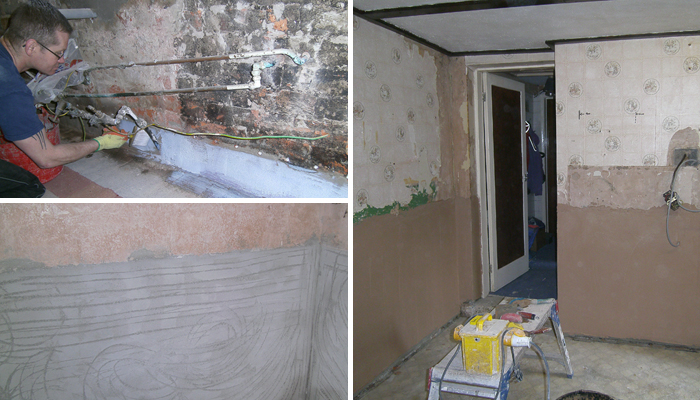 Tanking and Plastering